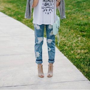 One Teaspoon • Distressed Baggies Jeans Mid Rise
